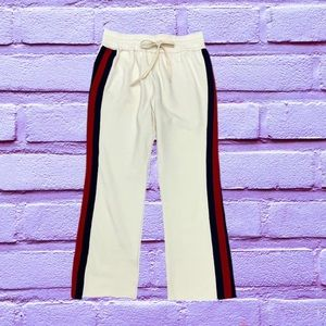 🔥 MOTHER French cotton-terry slim-leg pants